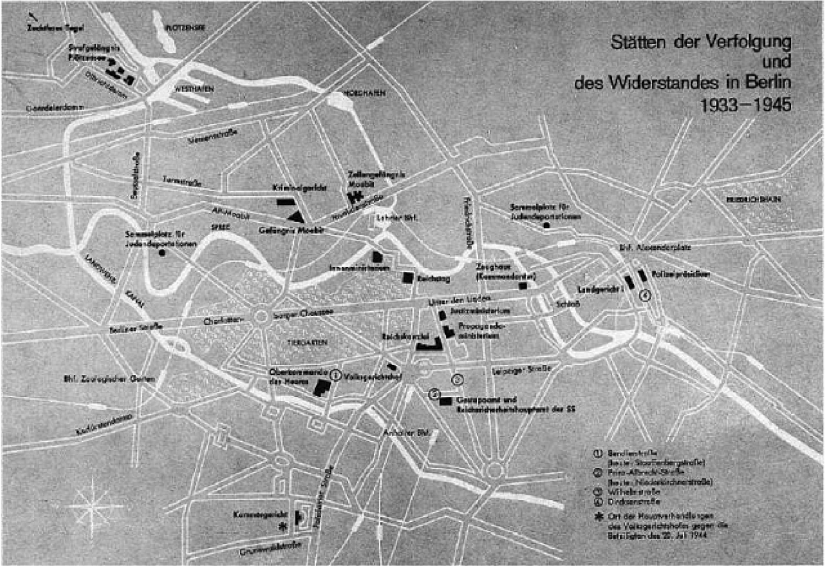 Map of operational tunnels in use in Berlin 1945.