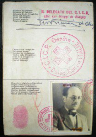 Red Cross Passport used by Adolf Eichmann to enter Argentina in 1950 under the name 'Ricardo Klement'.