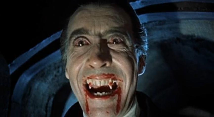 An image from the 1958 film version of  Dracula . Available  here .