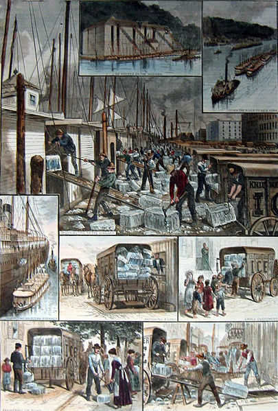 Images of the ice trade around New York City. From an 1884 edition of  Harper's Weekly .