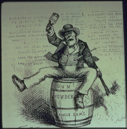 An American Anti Irish Cartoon The Usual Way Of Doing Things By