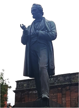 Richard Cobden statue in Manchester, England.