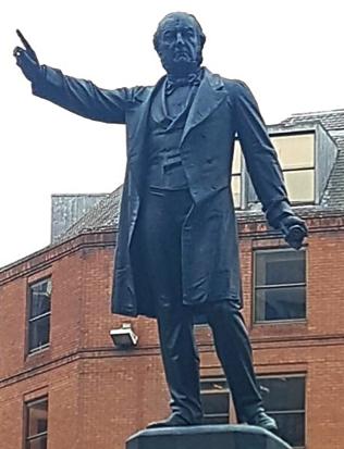 William Gladstone statue in Manchester, England.