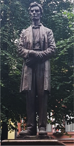 Abraham Lincoln statue in Manchester, England.