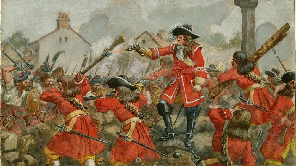 Government forces at the 1689 Battle of Dunkeld.