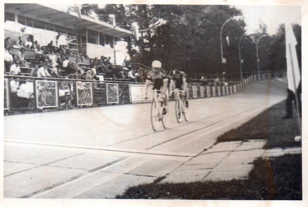 Photo 2 caption: Leszek Sibilski (first), Marek Kolasa (second), Spartakus Youth Games in Lodz, 1977, Sprint final,