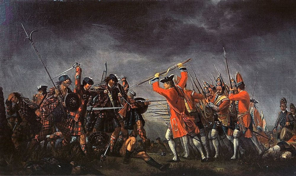 The Battle of Culloden by David Morier.