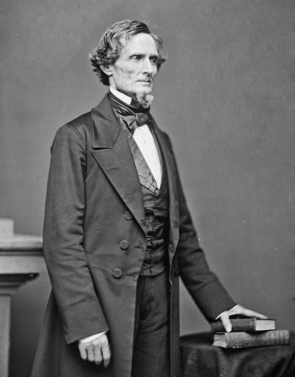 Jefferson Davis, the President of the Confederate States during the US Civil War.