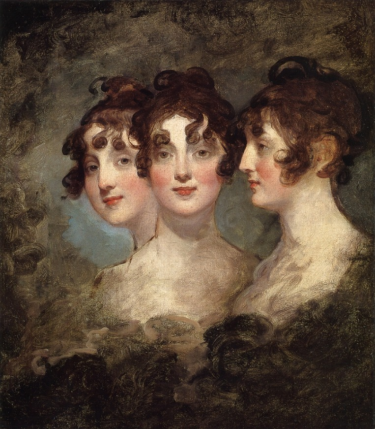A triple portrait of Elizabeth Patterson Bonaparte. By Gilbert Stuart, 1804.