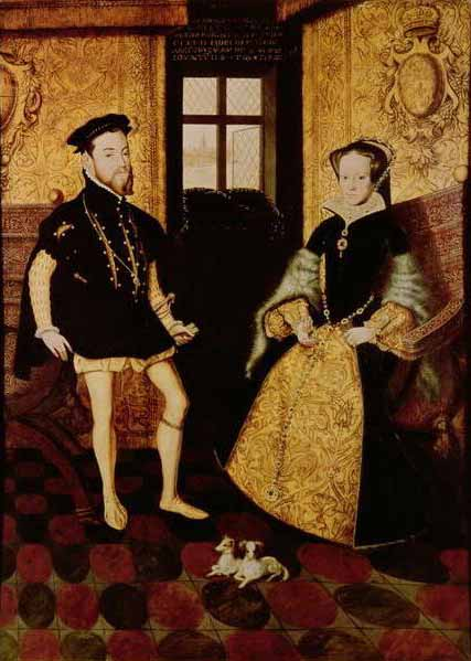 King Philip II of Spain and Mary I of England - the pair married in 1554.