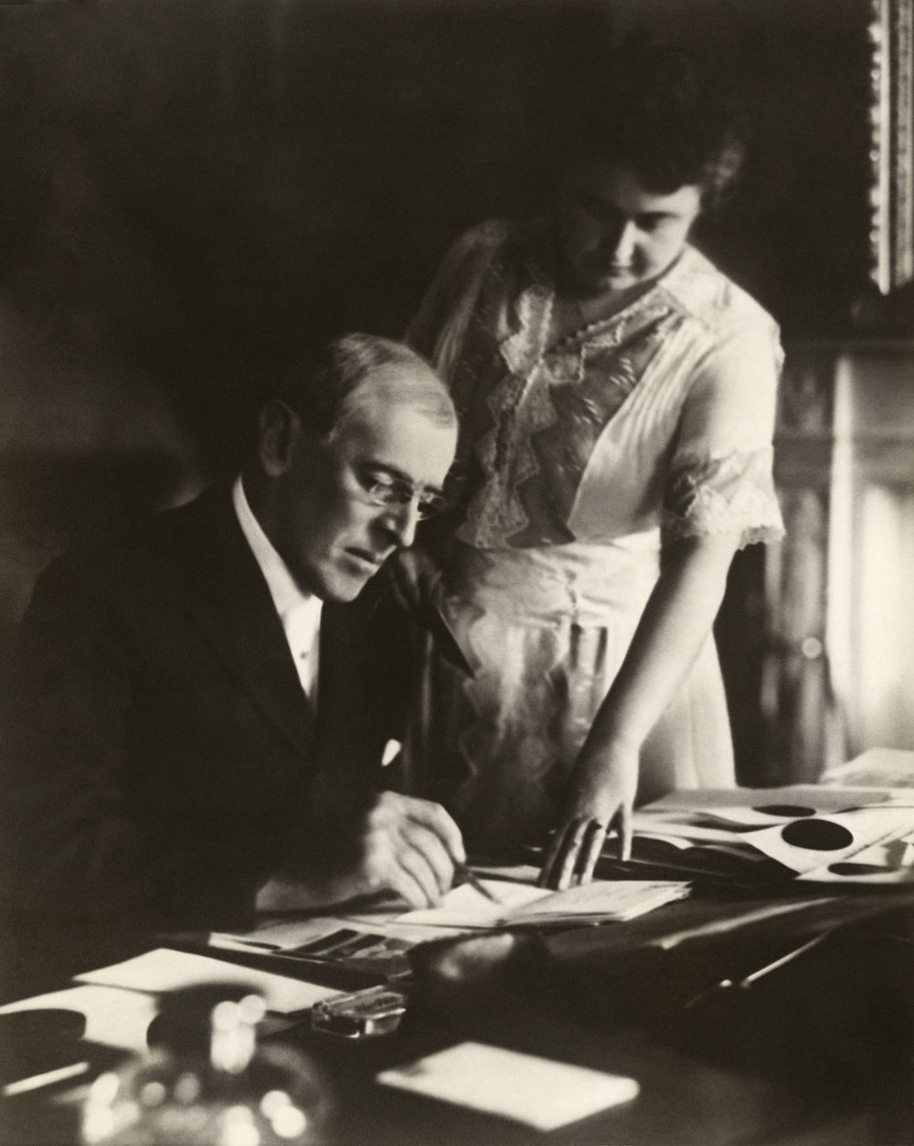 Woodrow and Edith Wilson in 1920.