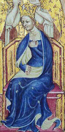 Anne of Bohemia as seen on the Liber Regalis.