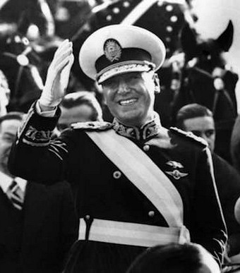 President Juan Peron during his 1946 inauguration.