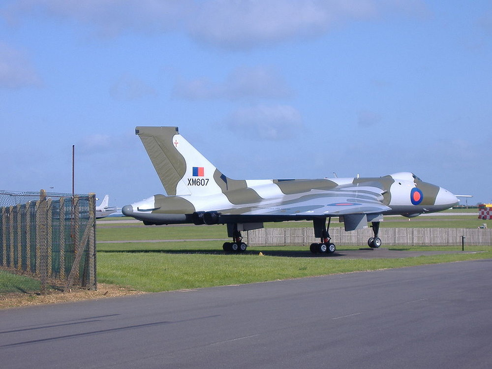 A Vulcan XM607, which carried out the first Operation Black Buck raid. Source: Jebediah Springfield, available  here .