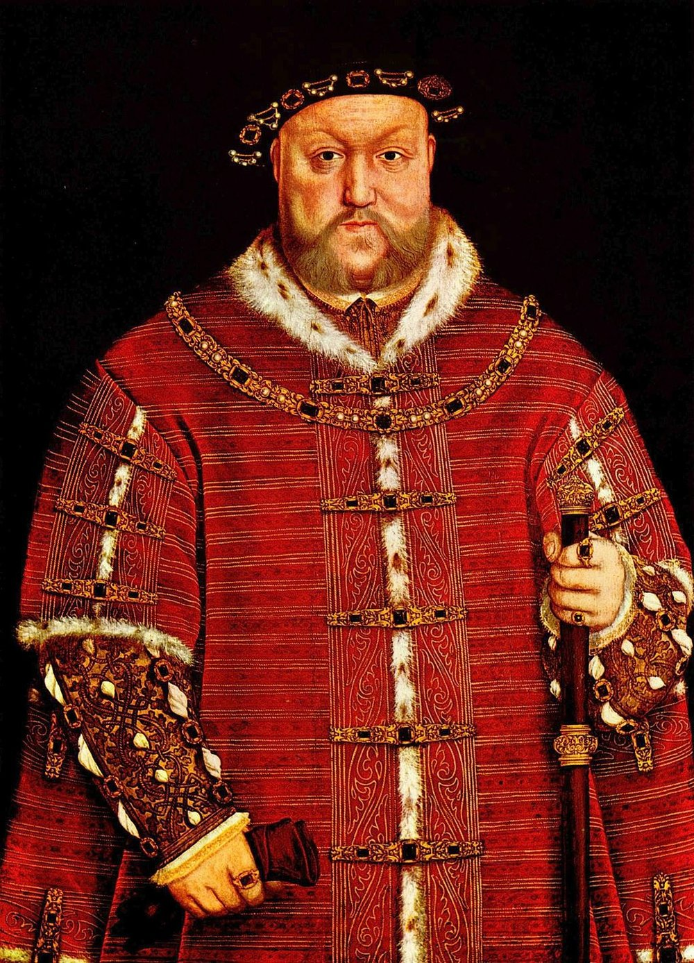 Portrait of King Henry VIII of England,