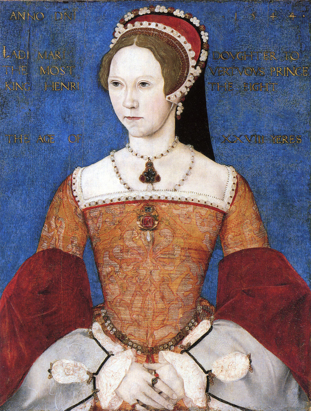 Mary I as painted by Master John in the 1540s.