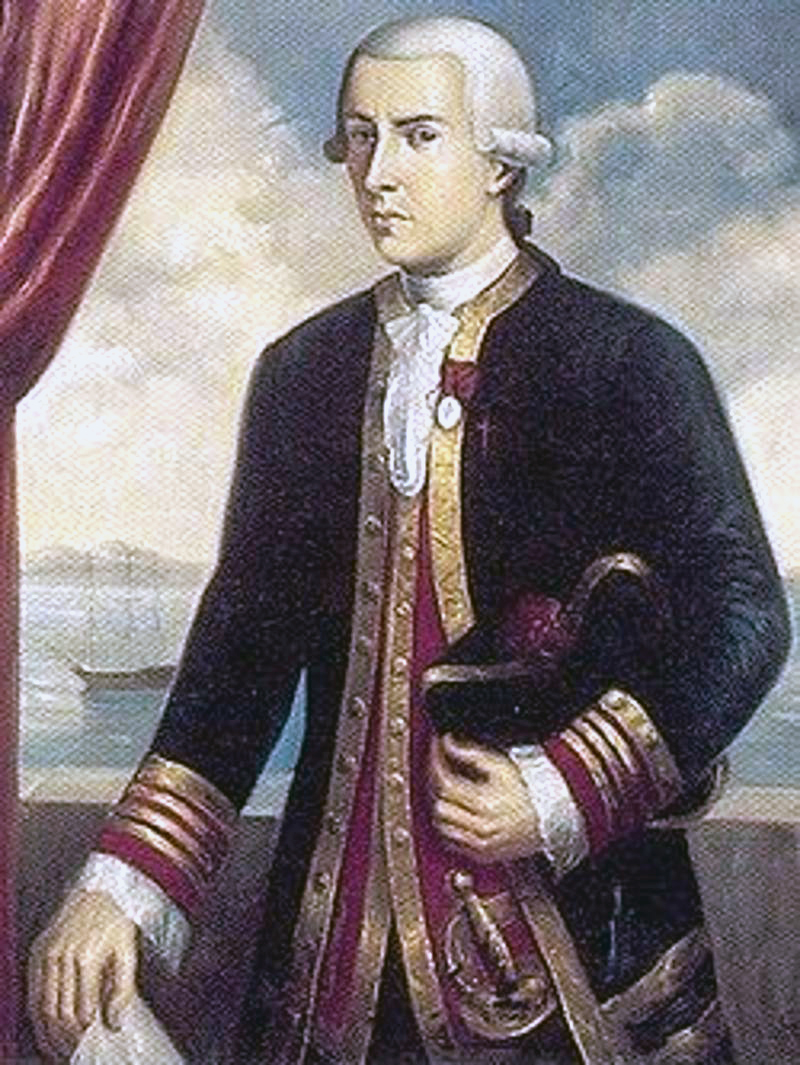 Juan Francisco de la Bodega y Quadra, a 18th century Spanish naval officer who visited Northern California.