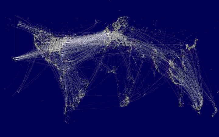 Elegant data visualizations  of global Facebook use.