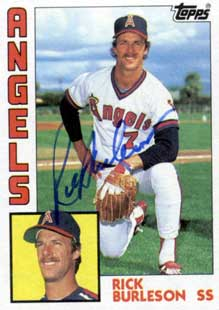 A college recruitment vendor alerted me to star '80s baseball player  Rick Burleson  today. I hope we're related.