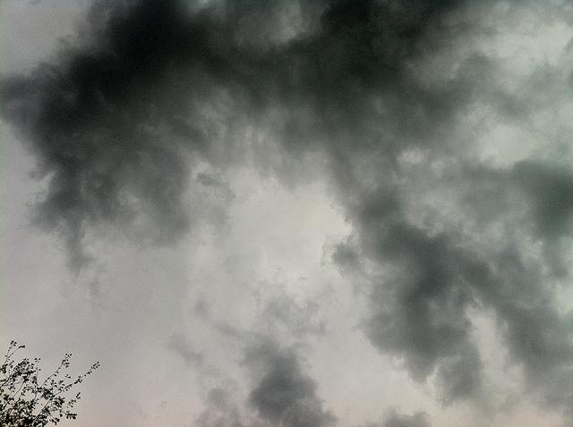 Plane in Clouds. Nashville. 2:30PM.