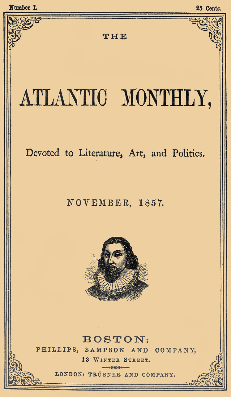 "huffingtonpost: theatlantic: On this day in 1857, The Atlantic was born. Our first cover. The Atlantic is 153 today. Happy Birthday, The Atlantic! — I remain a happy subscriber. Today's Sullivan piece, ""The Big Lie,"" is just the tip of the iceberg."
