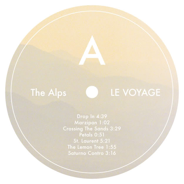"Monday's journey tunes:  Le Voyage , the fourth LP by Californian psychedelics The Alps, is streaming  right now  on Type's website.   Le Voyage  arrives May 25th on LP/CD.   From  Type :   ""The sun-bleached European movie soundtrack sentiment that underpinned their previous records is still here in full force, but it comes rolled up in something defiantly more psychedelic, and in turn more unpredictable. Sewn together by vignettes which bring to mind Delia Derbyshire's Radiophonic hiccups or Luc Ferrari's tape collage, the band have put together an album which genuinely takes you on a journey. Surely it can't be a mistake calling the album 'Le Voyage' then, a title which simultaneously brings to mind the work of Serge Gainsbourg and Alejandro Jordorowsky – something deeply visual but effortlessly beautiful.   With propulsive, break heavy rhythms sure to appeal to any diggers out there and a blissful, sunny outlook to wipe the frown from the faces of all you dour experimental types, 'Le Voyage' is a crack of light in a dark room. A mysterious record, it is punctuated by the same energy that gave us space rock and psychedelia, and while the band are quick to demonstrate their wide-ranging musical knowledge, there is something incredibly unique about their sound. This is not a lazy soundtrack to a film which might never be made, rather 'Le Voyage' is a journey for the listener and one you will want to take over and over again.""    Also, in celebration of  Le Voyage's  upcoming release, The Alps made a "" blissed-out summer mix "" as part of the label's  Typecast  series, which is available for free download  here ."
