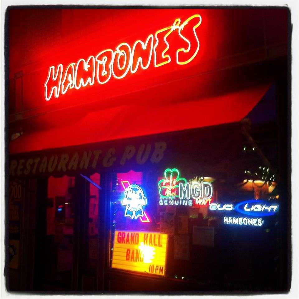 Outside of Hambones - Thursday night comedy open mic starts at 10PM. Click image for photo source, photographer unknown.