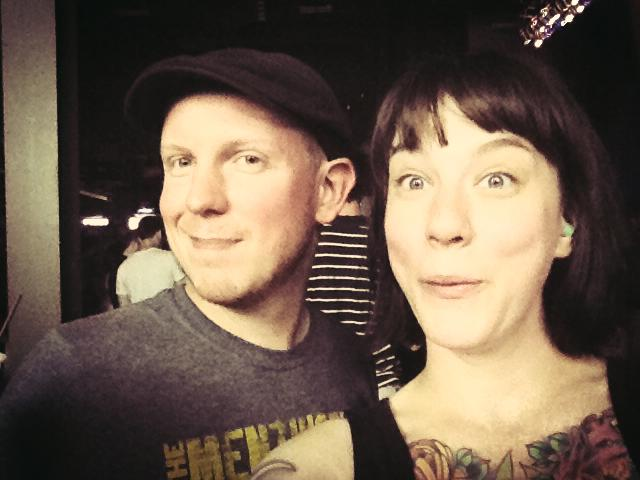 Jeff and I at Stage AE for the Gogol Bordello show on July 28th, (it was fucking awesome).