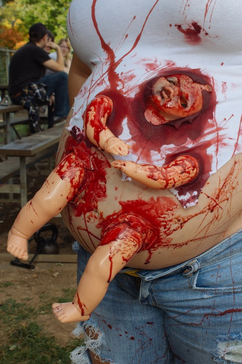 Close up on Zombie Fetus