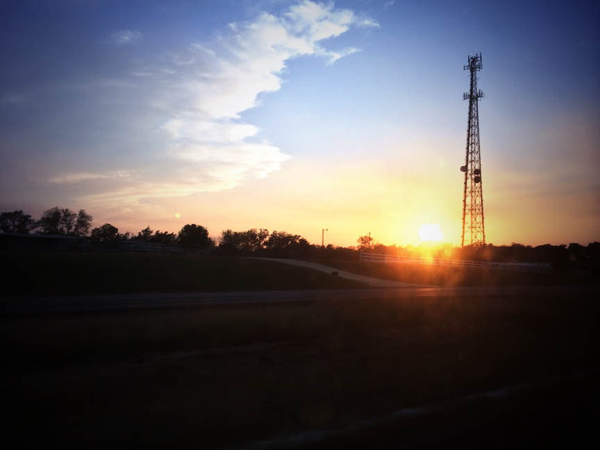 sunset in giddings, texas