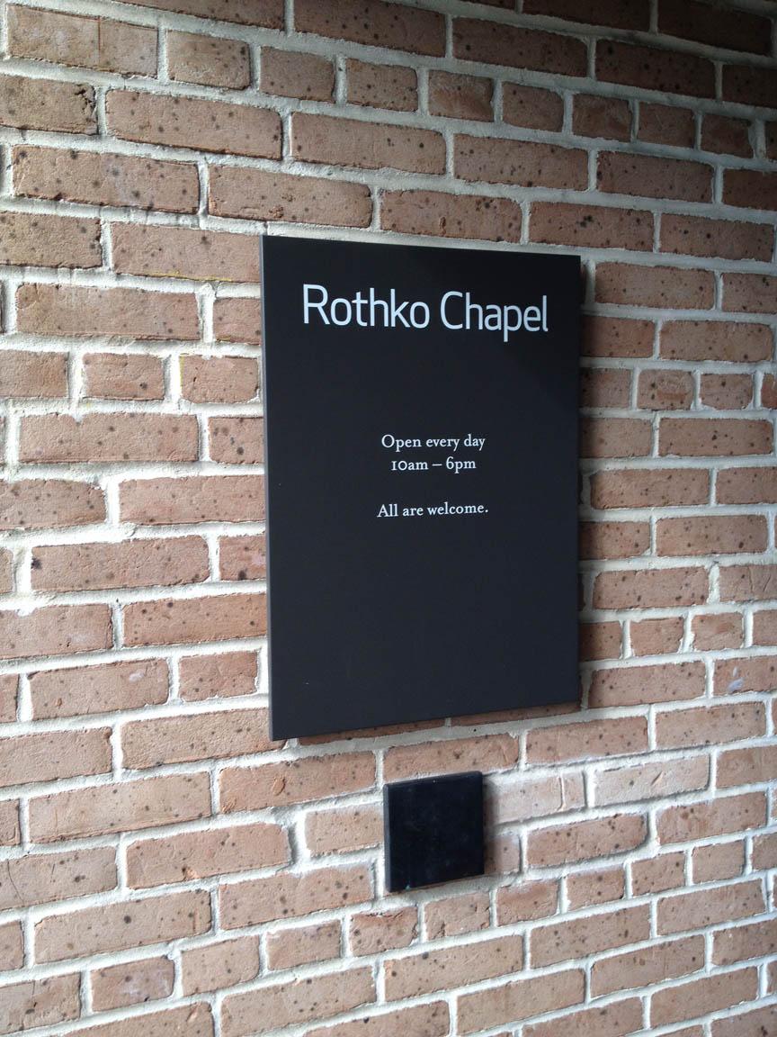 no pics in rothko chapel...