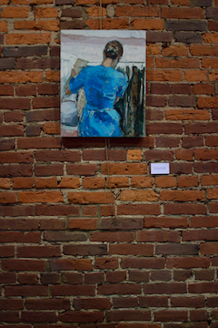 "Dress in Blue    24""x18"". Oil on panel. 2013. Available       Jerome Charles Photography"