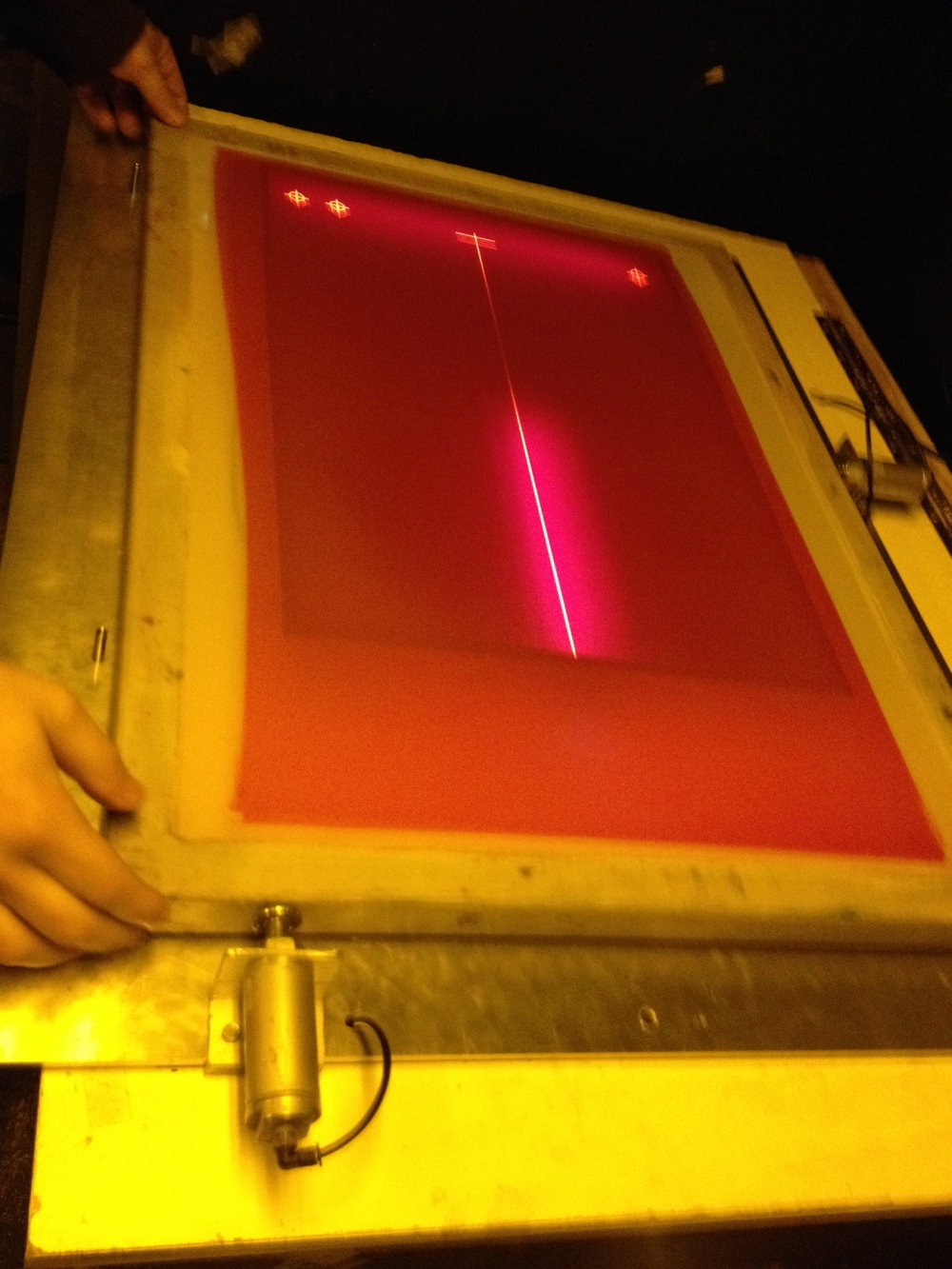 New laser registration system in action!