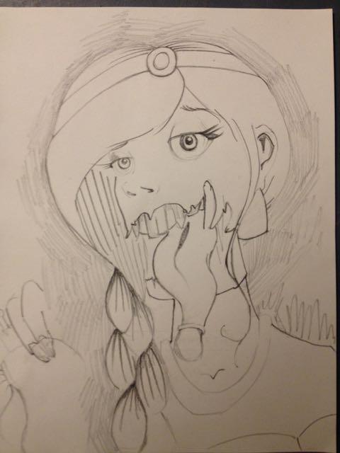 Jasmine as a Zombie (pencil)