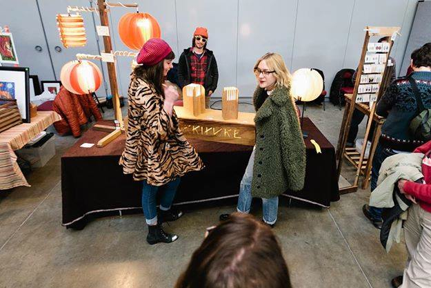 Chloe Sevigny shopping at Handmade Arcade 2013