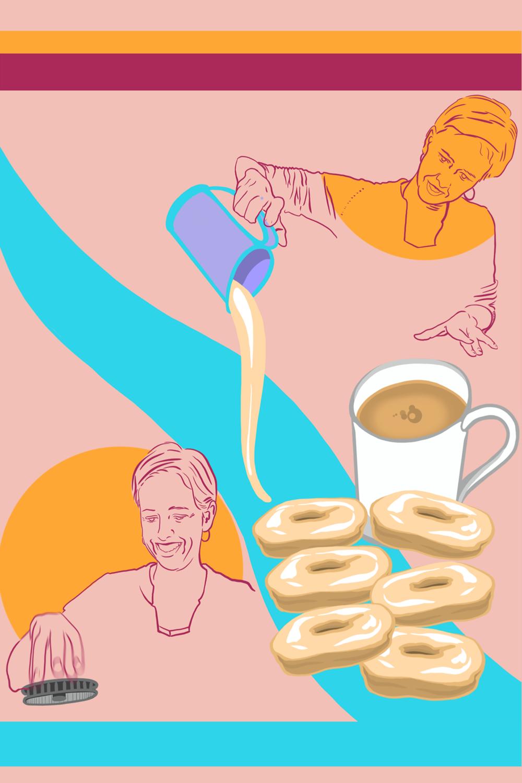 Nina and Her Grandmother's Donut Recipe