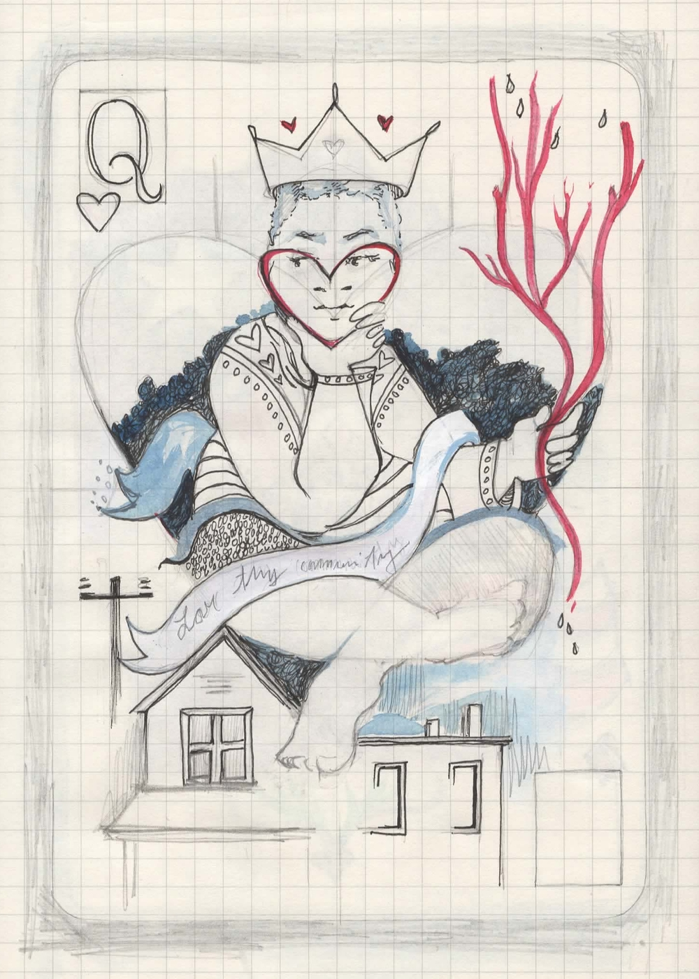 Queen of Hearts from the sketch book