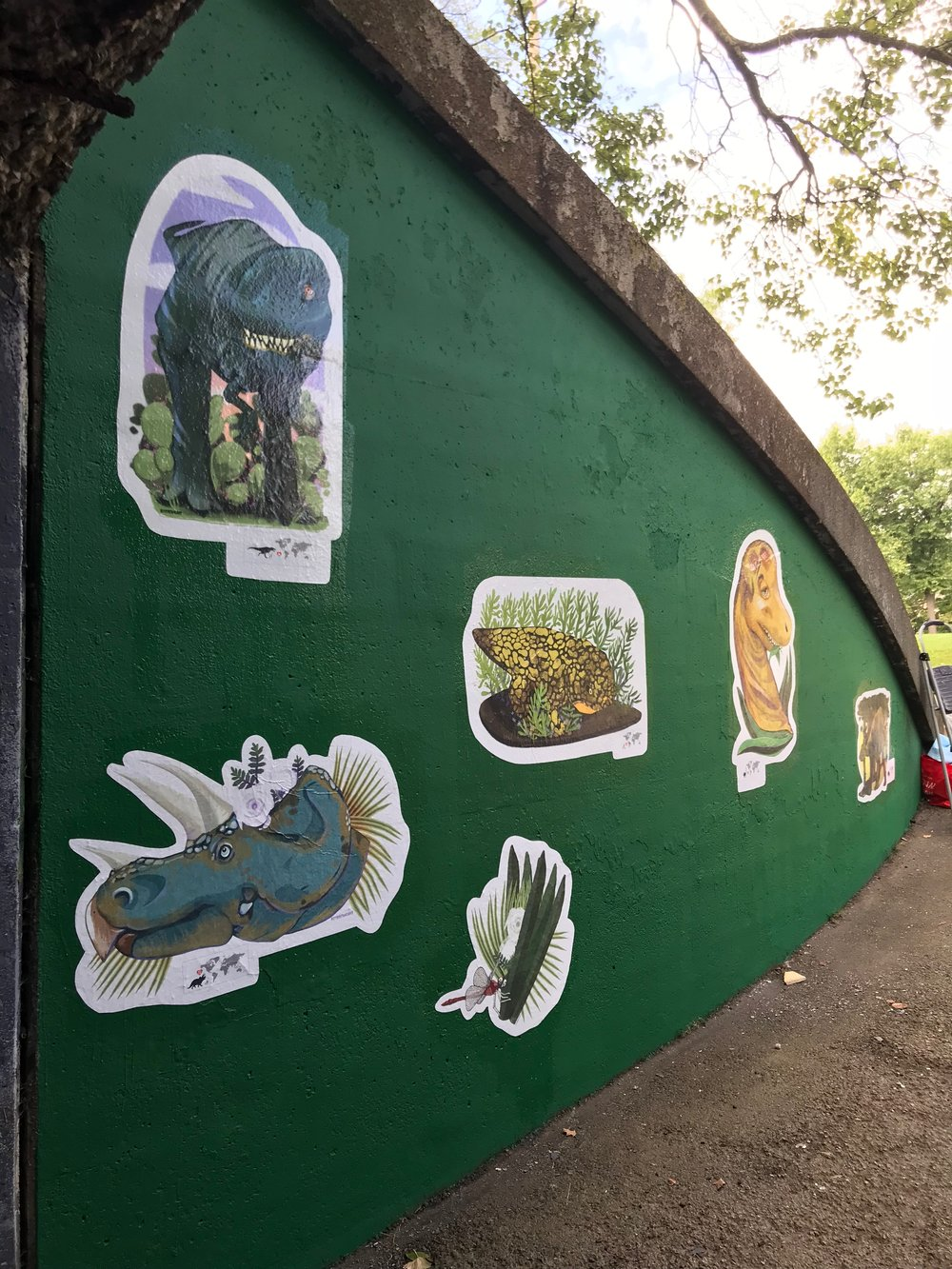 The Big Dino Sticker Project - Public Art in Schenley Park (Pgh, PA)