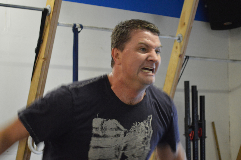 Austin trying to intimidate the double unders by giving them his angry face