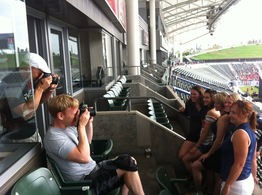 The only way to get a picture of Jason and Matt at the CrossFit Games was to take a picture of them taking a picture.