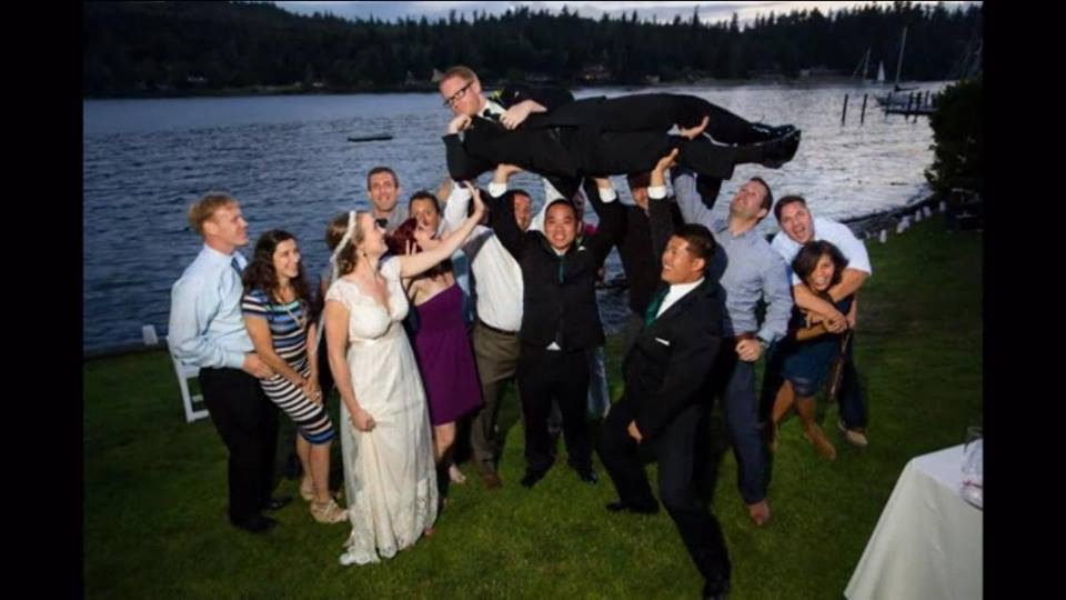 This is what happens when you invite too many CrossFitters to your wedding
