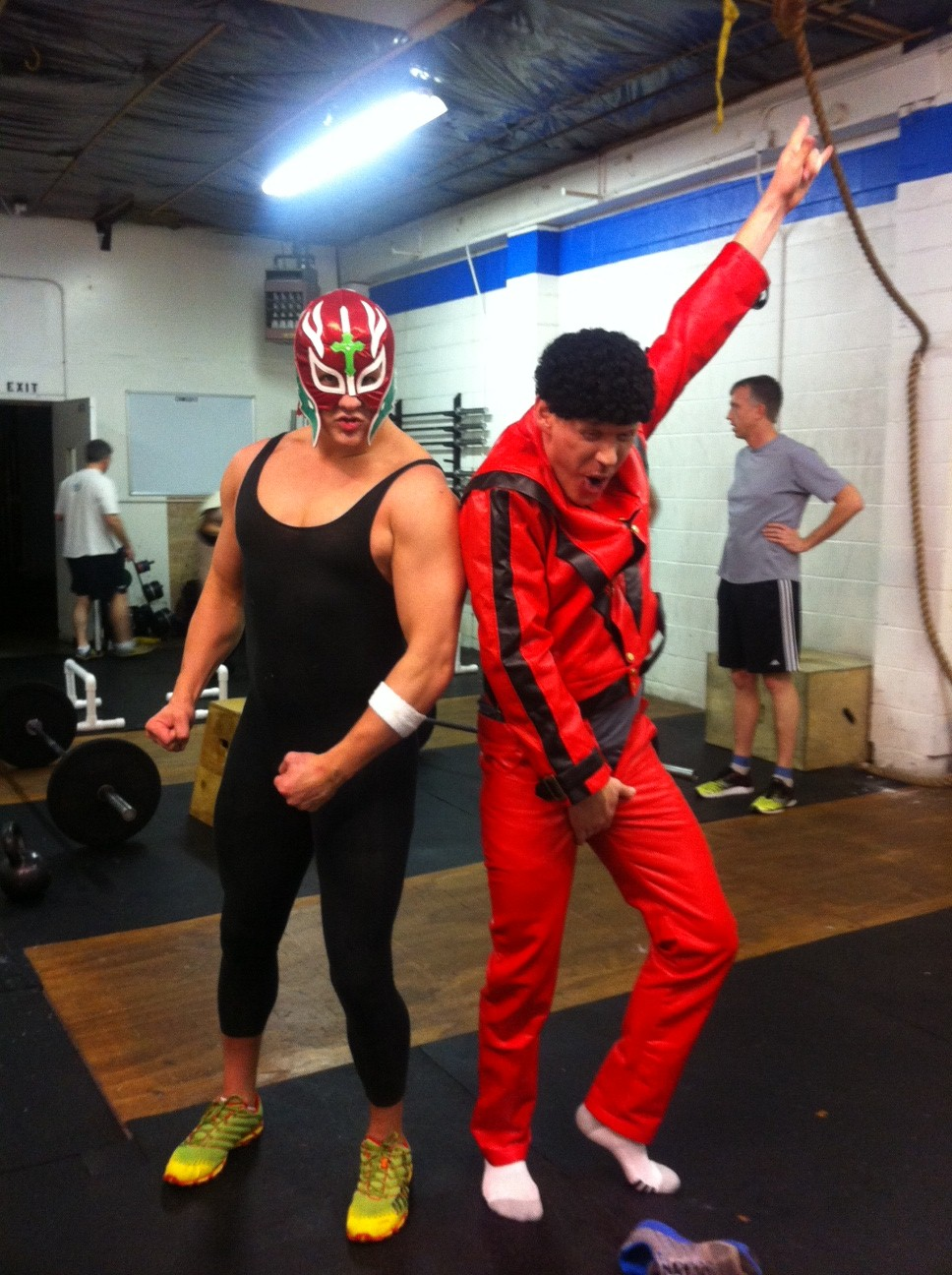 Here is Malama and Matt and our CFIB Halloween WOD.  What will Matt be for Halloween this year at his party?
