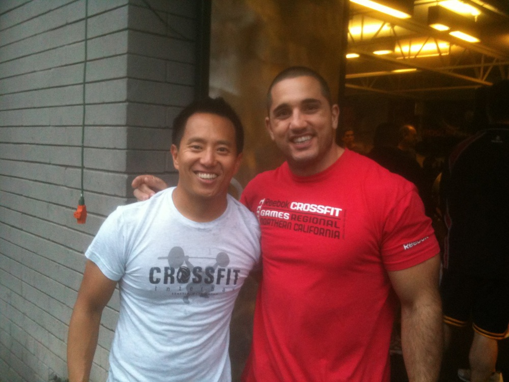 Pete here with Jason Khalipa.  Visiting NorCal CrossFit