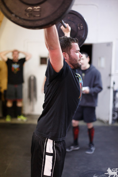 Brian doing a WOD from the 2013 CrossFit Open