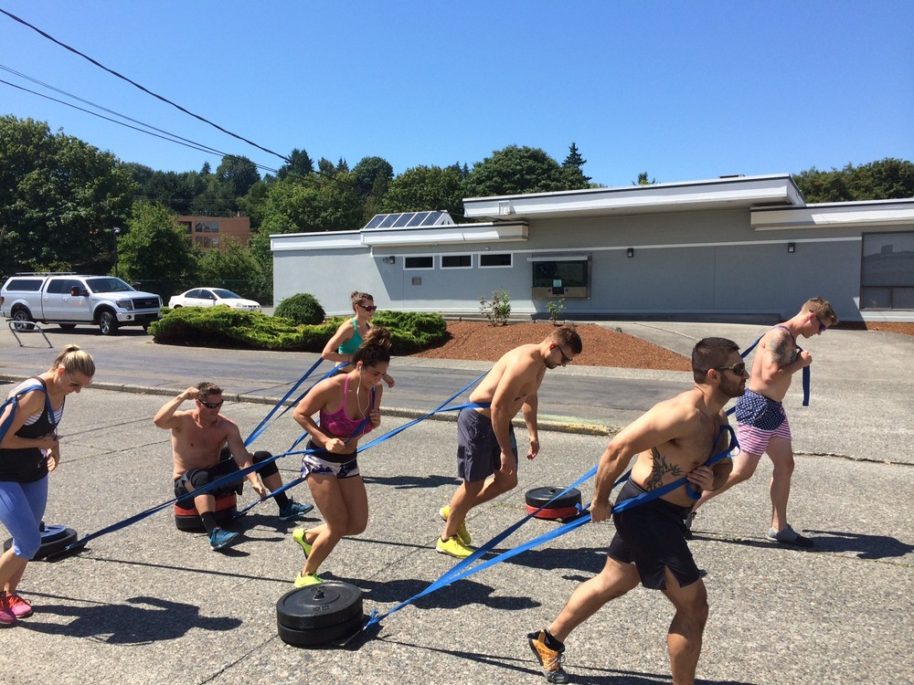 Kristi looked so out of place during the sled pulls...........seriously, no sunglasses.  VERY uncool.