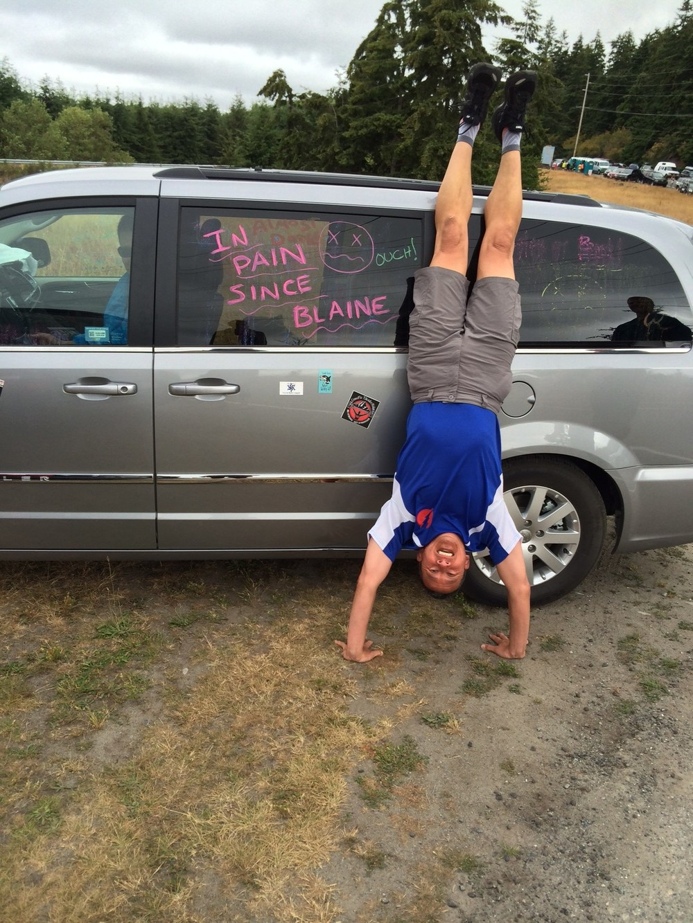 Dave P. with the mandatory handstand picture :)