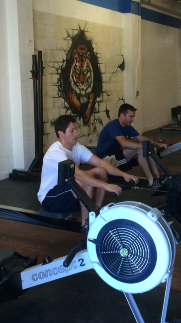 Vince on the left and Jim on the right, pushed hard this entire wod.  Both sub 30 minutes, that included their rest