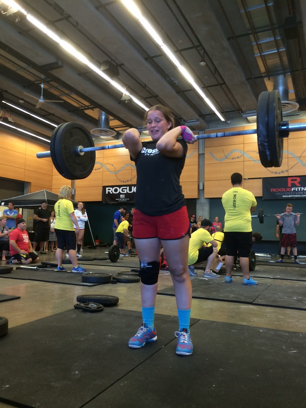 15 Year old Marissa wound up finishing with a clean of 120 pounds