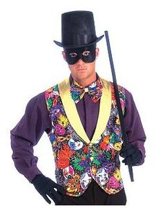 Colors, a fun vest, a top hat and cane....acceptable