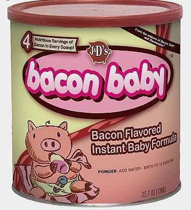 It's never too early for you to teach your infants the glory of bacon
